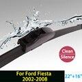 """Escovas para Ford Fiesta (2002-2008) 22 """"+ 16"""" fit padrão J gancho limpador braços só HY-002"""