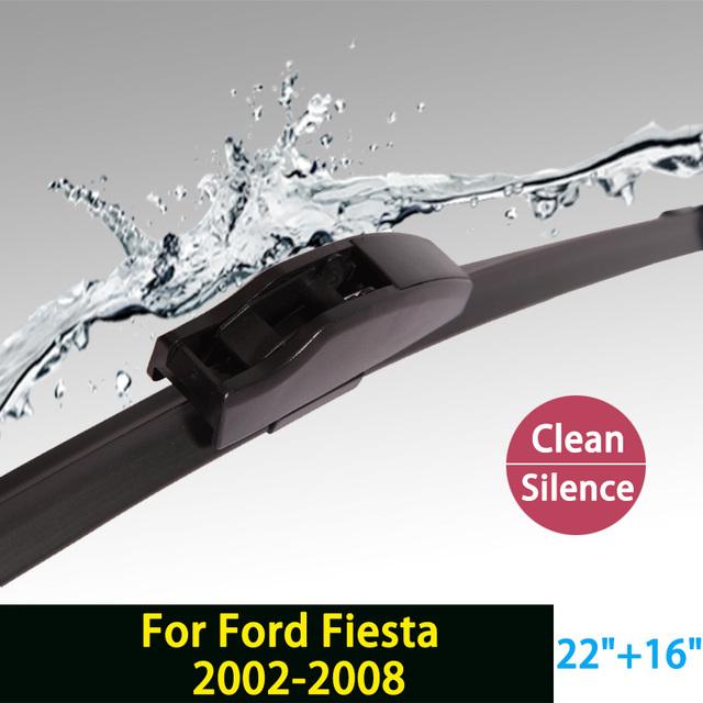 """Limpiaparabrisas para Ford Fiesta (2002-2008) 22 """"+ 16"""" estándar fit J gancho limpiaparabrisas armas sólo HY-002"""