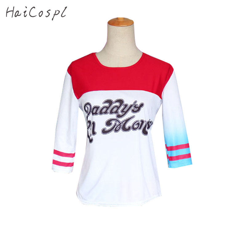 Harley Quinn Outfit Women Cosplay Costumes Jacket T-Shirt Shorts Anime Party Suit Female Fancy Halloween Fantasias Adults