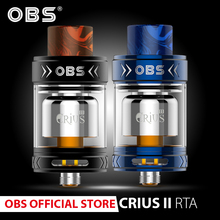 Original obs crius II single coil rta atomizer with 3.5ml tank and resin drip tip airflow for electronic cigarettes vape стоимость