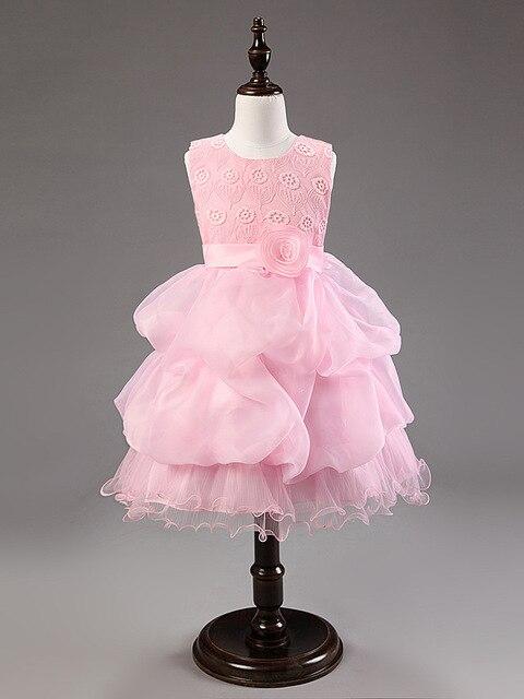 Moda rojo blanco de color rosa oscuro vestido de verano para niños ...