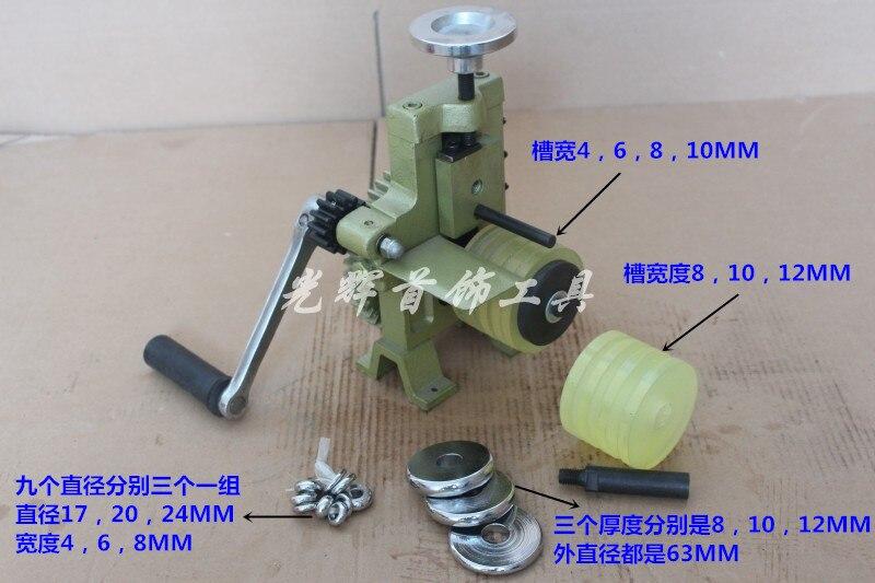 Multifunctional Jewelry Bending Machine Rolling Mill Manual for Hoop Earring Ring Bracelet Jewelry Making Equipment manual metal bending machine press brake for making metal model diy s n 20012