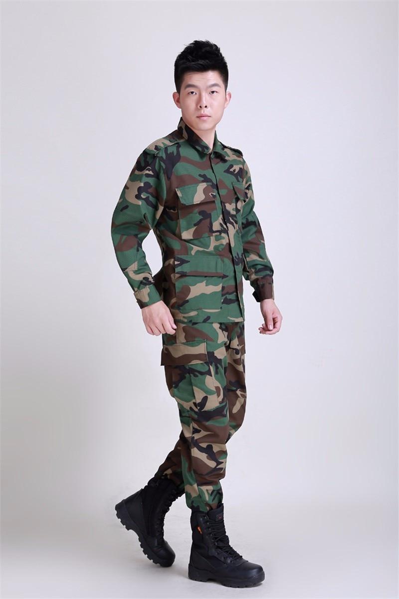 Nouvel ensemble de vêtements militaires tactiques de l'armée BDU, uniforme tactique de Paintball de Camouflage, manteau de Combat et pantalon - 4