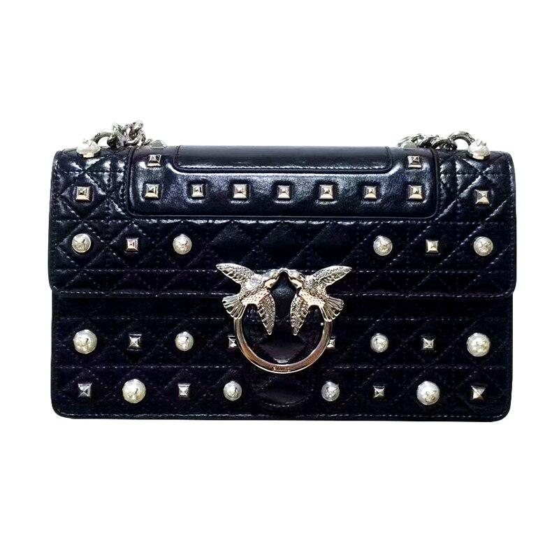 ee59e364af Vente 2019 date mode hirondelle serrure messenger sac de luxe célèbre marque  style sacs femmes sac à main en cuir véritable chaînes bolsas Pas Cher  Prix. >>>