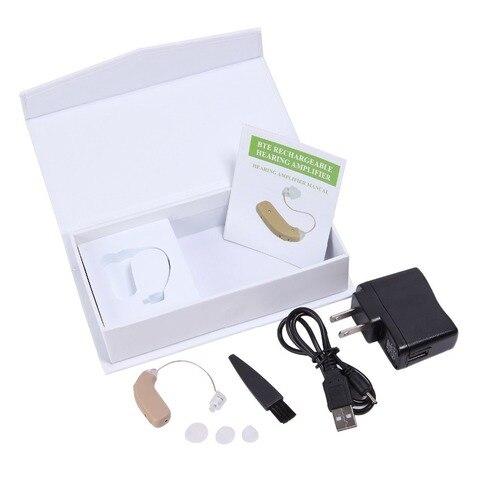 usb recarregavel bte aparelho auditivo para os