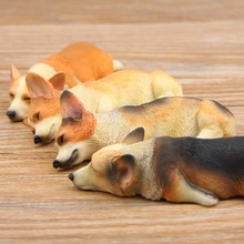 New Arrivals 1pcs Groceries Sleepy Series Kawaii Corgi Shiba Inu PVC Action Figures Toys Decoration Refrigerator Paste Kid Gifts