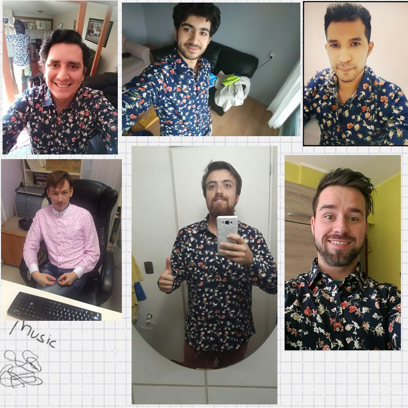 2019 Retro Floral Printed Man Shirts Fashion Classic Men Dress Shirts Quick-Dry&Breathable Men's Long Sleeve Casual Shirt Yn552