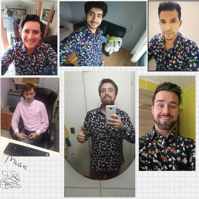 Retro Floral Printed Man Casual Shirts Fashion Classic