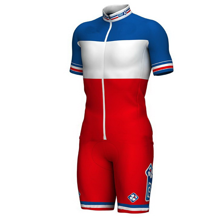2017 2018 FDJ PRO TEAM FRANCE Skinsuit Bodysuit Summer Cycling Jersey Sets MTB Bike Bicycle Clothing