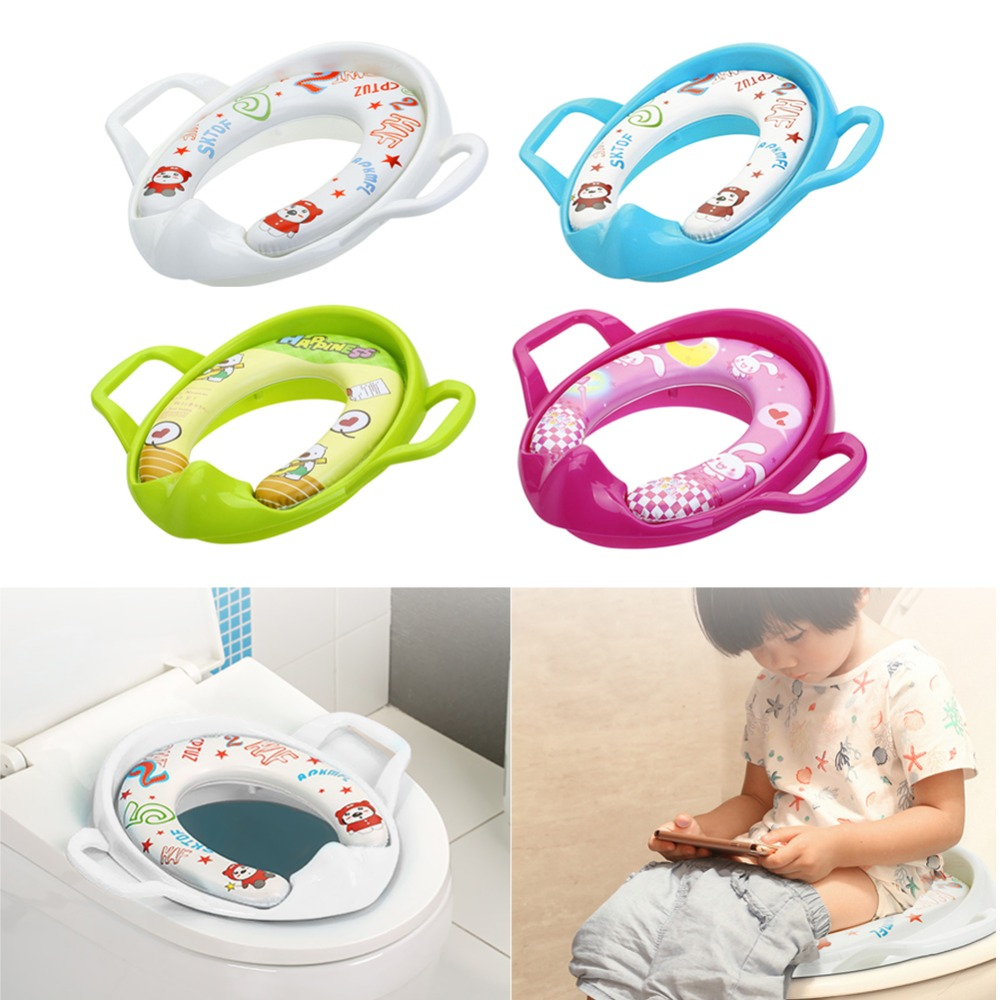 Baby Portable Toilet Seat Kids Safety Cushion Travel Potty Seat Infant Care Baby Toilet Training Ring To Increase Padded Toilet