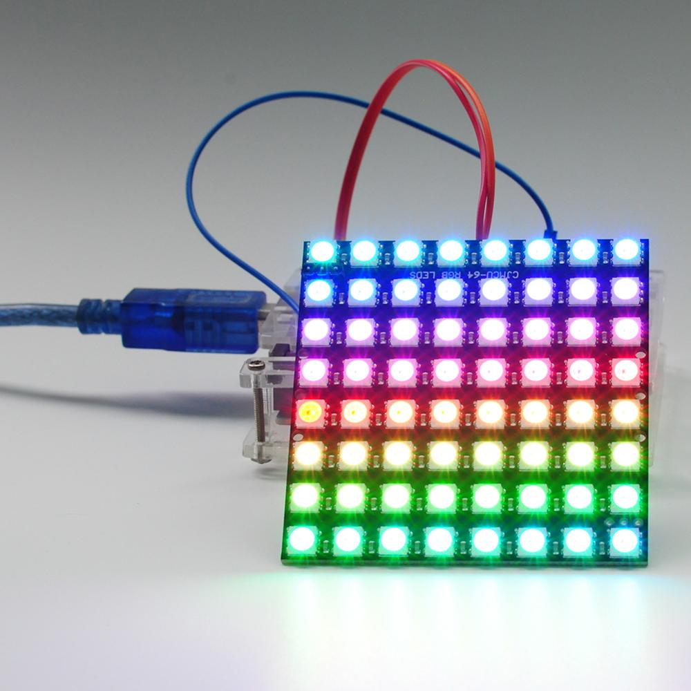 8x8 64 RGB LEDs Dot Matrix WS2812 5050 Addressable LED Display Module For Arduino FZ1104