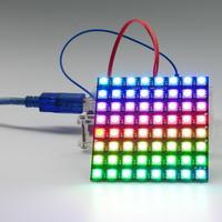 8x8 64 ledy rgb z matrycą punktową WS2812 5050 adresowalnych moduł wyświetlacza led dla Arduino FZ1104 na