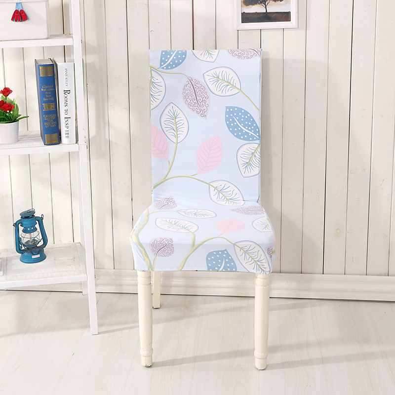 bladeren stoel cover spandex stretch capa de cadeira eetkamer moderne goedkope elastische eetkamerstoel covers in bladeren stoel cover spandex stretch capa