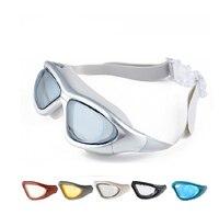 Unisex Óculos de Natação Água Sportswear Grande Waterproof Nariz Ajustável Óculos de Natação Swimwear Esporte Vidro