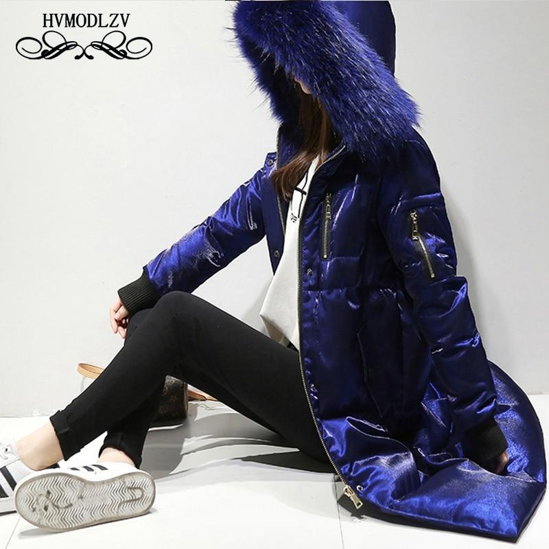 2018 Winter New Plus size Down Coat Women jaqueta feminina Fashion Top White duck down Long jacket Female Parka LJ121