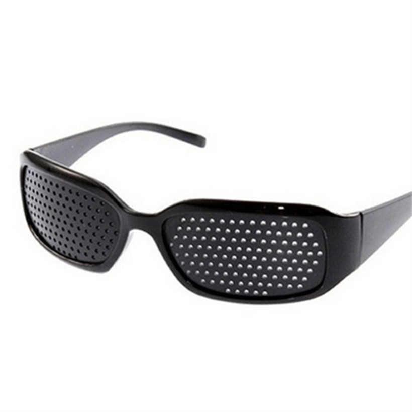 44035f5df1 YOOSKE Black Pinhole Sunglasses Anti-fatigue Vision Care Pin Hole  Microporous Glasses Eye Exercise Eyesight