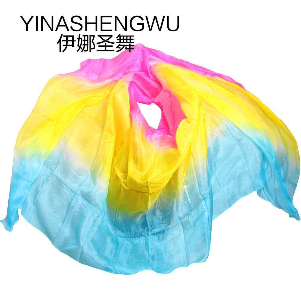 100 Silk Belly Dance Veils Shawl Scarf Belly Dance Practice Performance Silk Veils in Belly Dancing from Novelty Special Use
