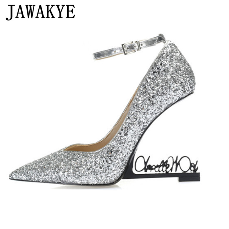 Spring Crystal Pointed Women Pumps Silver Sequins Thin High Heels Shoes Woman Fashion Sexy party Shoes Women Wedding  ShoesSpring Crystal Pointed Women Pumps Silver Sequins Thin High Heels Shoes Woman Fashion Sexy party Shoes Women Wedding  Shoes