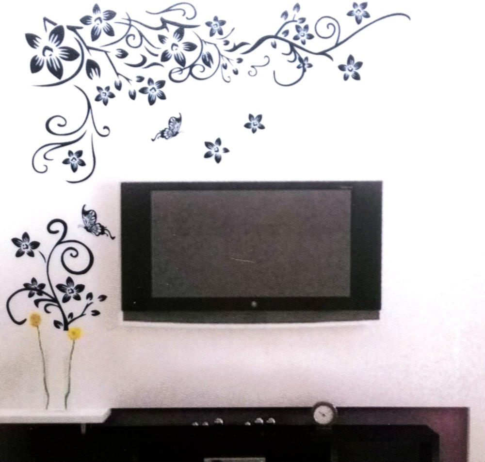 Hot Sale 2015 Wall Decal Diy Decoration Fashion Romantic Flower Wall Sticker Wall Stickers Home Decor Manufacture Free Shipping In Wall Stickers From Home
