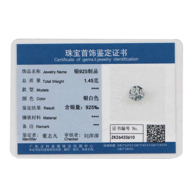 BAMOER แฟชั่น 100% 925 เงินลูกปัด Charms Fit สร้อยข้อมือสตรีเครื่องประดับและเครื่องประดับทำ DIY SCC115