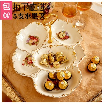 double layers cake stand cake plate snack dish tableware dessert plate european style