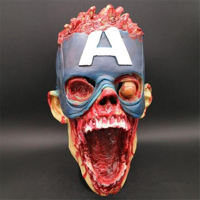 Маска капитан америка зомби 4
