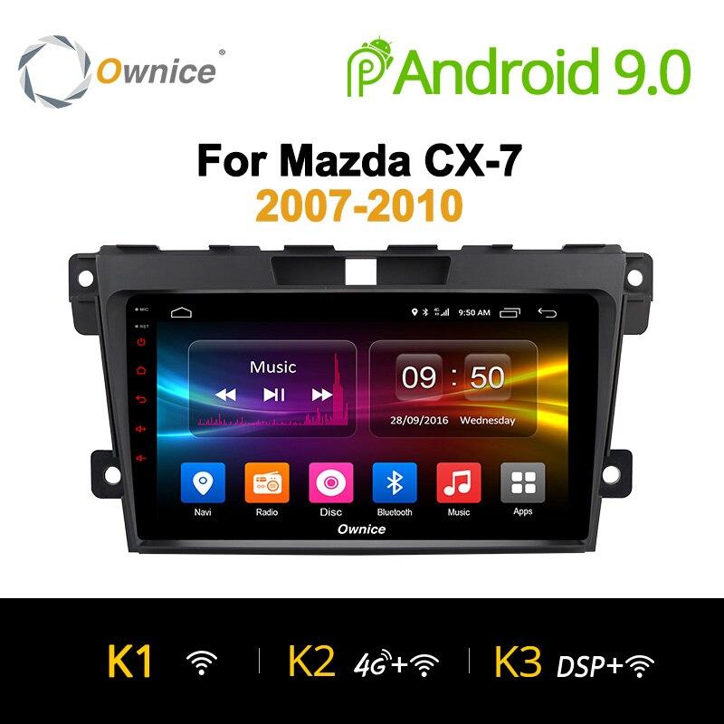 Ownice K1 K2 K3 2 Din volant Android 9.0 pour mazda cx-7 CX 7 CX7 lecteur DVD de voiture 8 Core 2G + 32G Navigation GPS 2.5D IPS