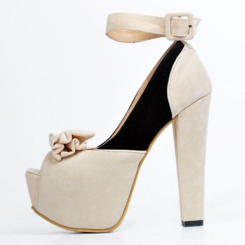 ความตั้งใจเดิมผู้หญิงรองเท้าแตะสายคล้องคอ Nice เปิดนิ้วเท้าหวานสแควร์รองเท้าส้นสูงรองเท้าผู้หญิง Plus ขนาด 4 15-ใน รองเท้าส้นสูง จาก รองเท้า บน   3