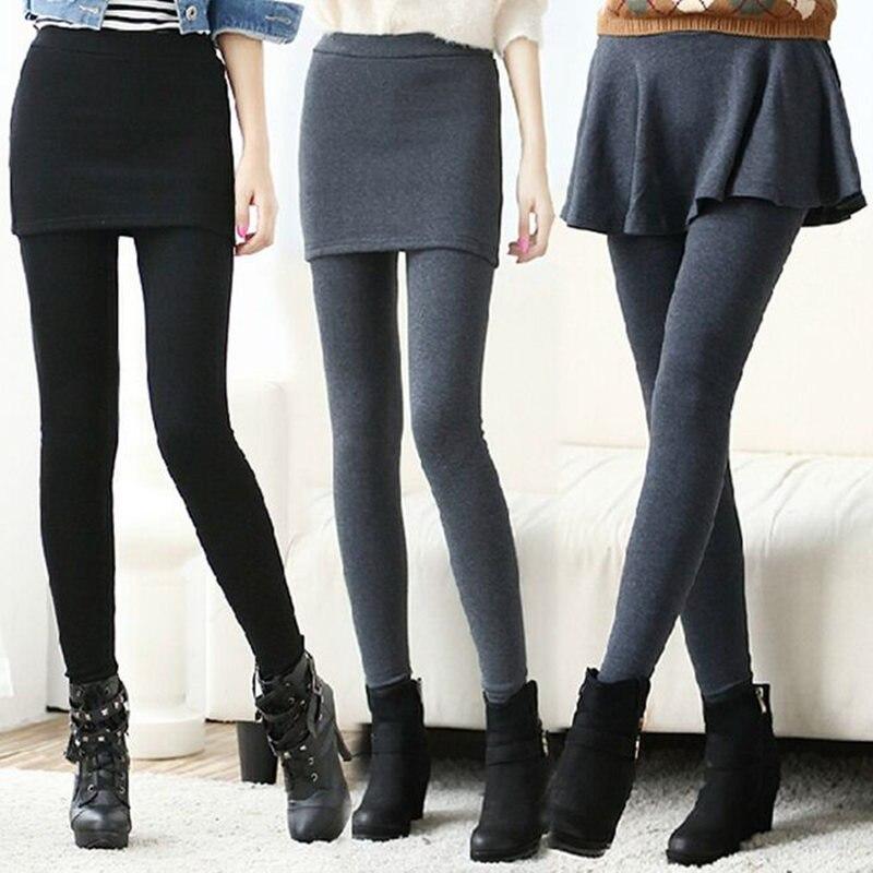 Revolutional 2-in-1 Women`s skirt   leggings   footless long pants Lpose Hip   Legging   3colors Free Shipping