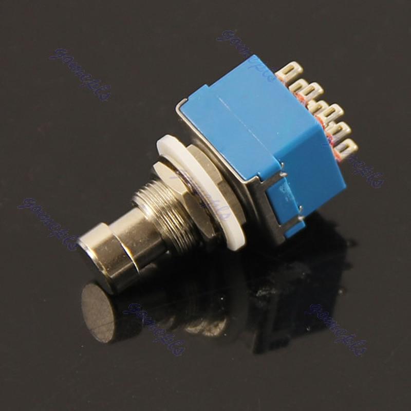 5Pcs/Lot 3PDT 9-Pin Stomp Foot Pedal Switch True Bypass Blue Dropship