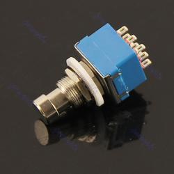 5 шт./лот 3PDT 9-Pin Stomp педаль переключатель истинный Bypass синий