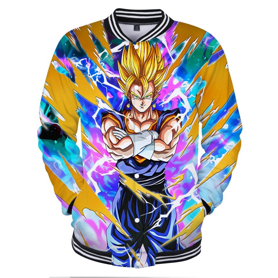 3D Dragon Ball Jacket Coat Men 2018 New Arrival Clothes Print Dragon Ball Mens Slim Fit Cosplay Jacket Fashion Baseball Uniform