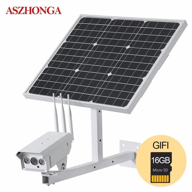 Solar Panel 30W 1080P 3G 4G Bullet Outdoor IP Camera Wireless Wi-fi SIM Card Waterproof Power Battery CCTV Surveillance Camera