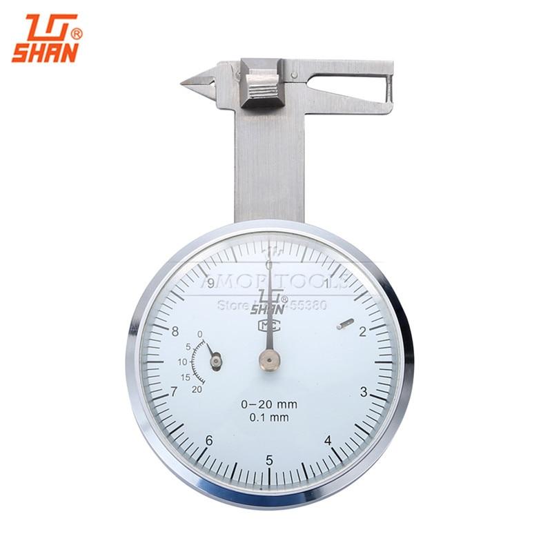 SHAN Dial GEM Gauges 0-20mm/0.1 Gemstone Test Gauge Caliper Measure Tools 0 20 mm manual welding seam gauge weld inspection caliper gauges