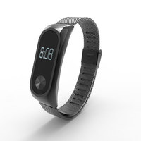 Stainless Steel Strap For OLED Xiaomi Mi Band 2 Smart Bracelet Wristband Replacement Wearable Accessories Free