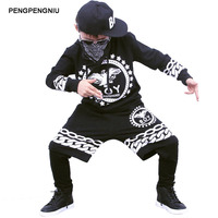 PENGPENGNIU Boys Hip Hop Clothes Sets Teenage Boys Clothing 14 13 Years Kids Streetwear Children Dance