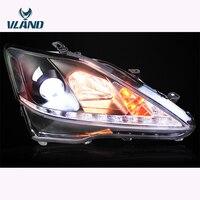 VLAND Автомобильная фара для Lexus IS250 светодио дный светодиодные фары 2006 2008 2012 IS300 IS250 светодио дный светодиодные фары с DRL H7 ксеноновые линзы