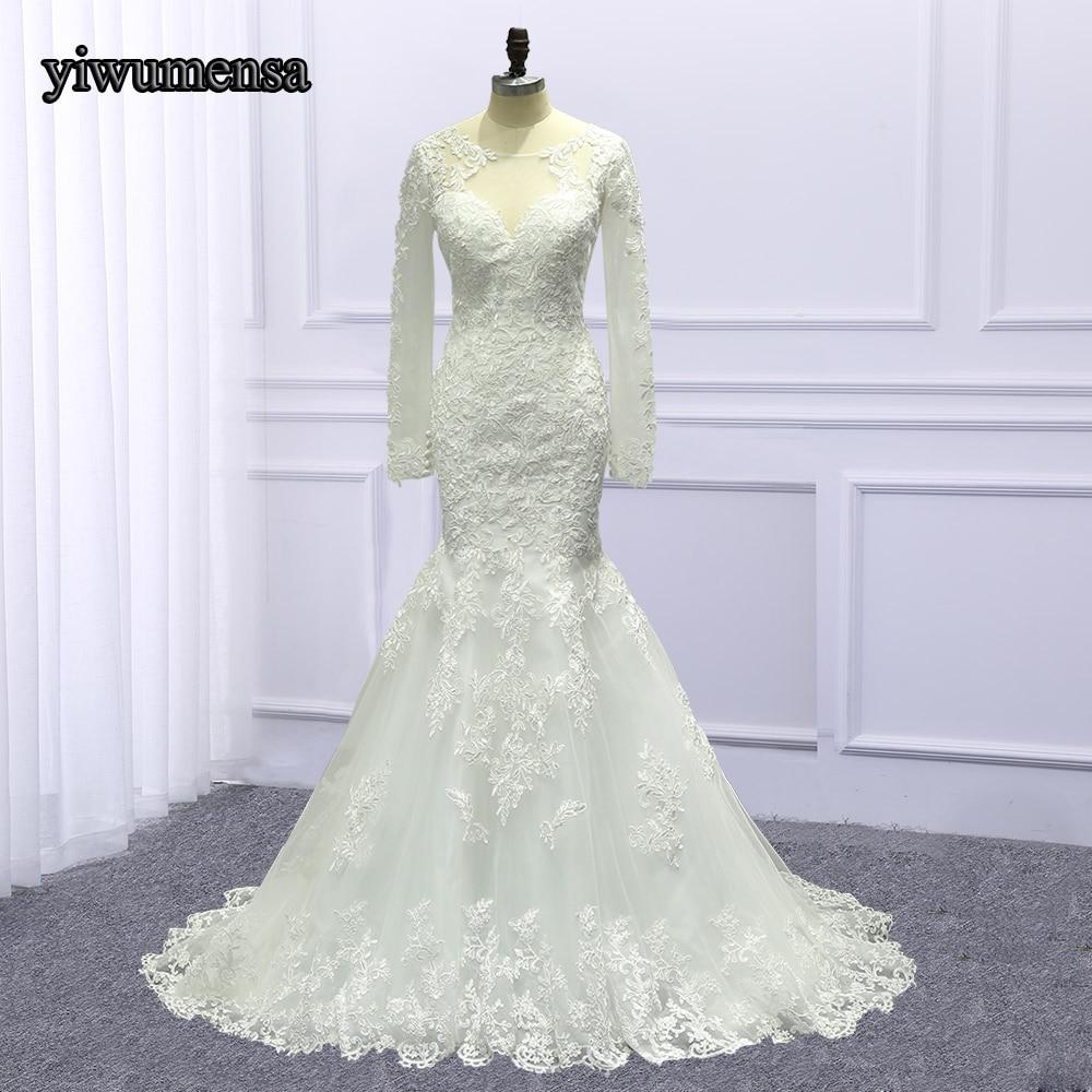 Настоящая фотография; Robe De Mariage аппликацией свадебное платье 2018 Boho Свадебное платье es Перл бисером Русалка свадебное платье заводская