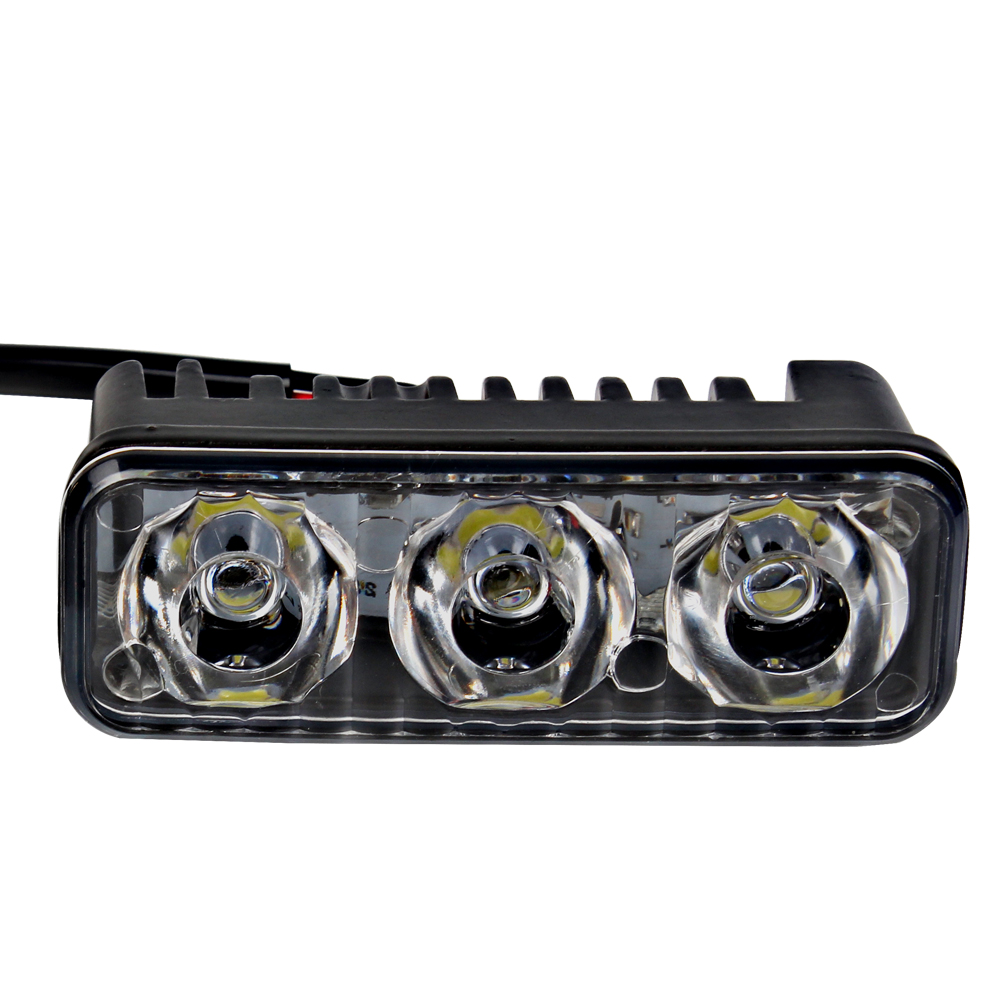 2Pcs Car DRL Daytime Running Lights DC 12V Car Styling Light Source High Quality Waterproof 6 LED Bulbs Automobiles Fog Lamps