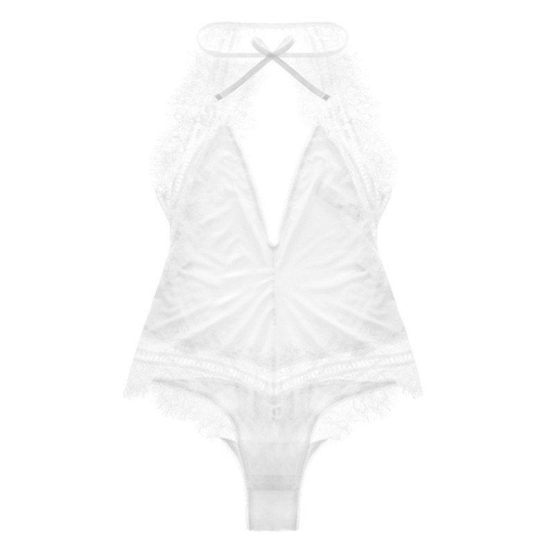 Varsbaby-Sexy-temptation-beautiful-deep-V-shaper-eyelashes-lace-one-piece-underwear (4)