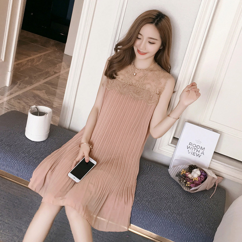 2018 Summer Sleeveless Maternity Dress Mother Dress Casual pregnancy Lace Dresses Breathable Loose Pregnant Women Clothes