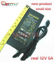 Nouveau produit 12 V 5A 12V5A 60 W LED bande adaptateur secteur AC 110-240 V 5.5*2.5-2.1 alimentation LED alimentation adaptateur lecteur RGB 2835 LED bande