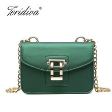 Teridiva 2017 Summer Bag Famous Brand Women Messenger Bag Chains PU Leather Women Shoulder Bag Vintage Small Mini Flap Bag Bolsa