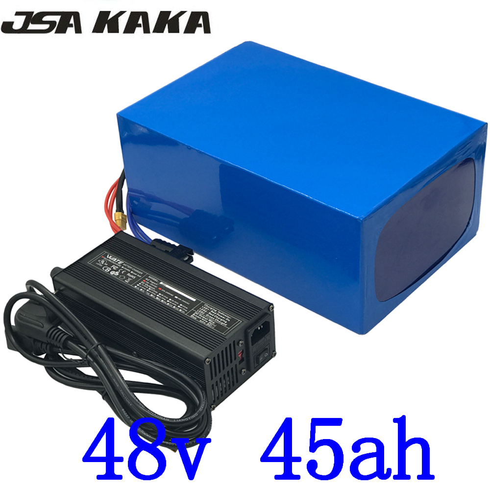 48V 45AH 2000W Electric Bike Battery 48V 45AH Lithium ion battery pack 48V 45AH Scooter Battery with 50A BMS and 54.6 5A Charger