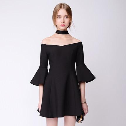 Customize 2016 Spring New Fashion Ladies Little Black Dress Women ...