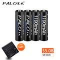 Atacado 4 x palo pilhas aaa ni-mh 1100 mah bateria recarregável aaa 3a bateria baixa auto-descarga batterias para microfone