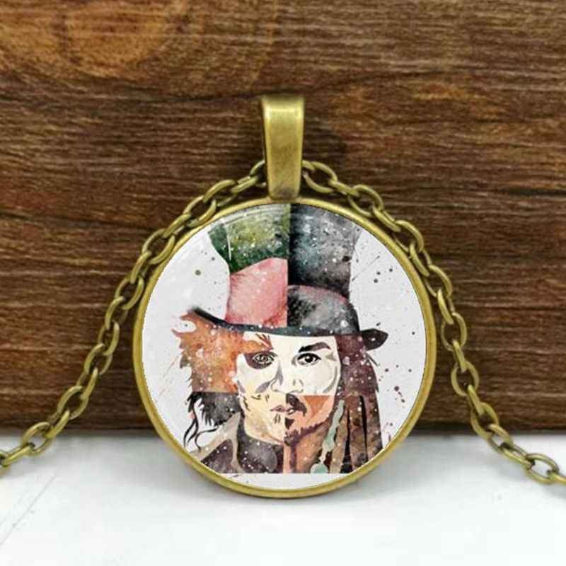 Johnny Depp Art Print Necklace Glass Photo Cabochon Necklace