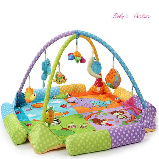 Atacado brinquedos do jogo do bebê ginásio tapete Infantil cobertor chão com painel da música crianças brinquedos educativos Em Estoque