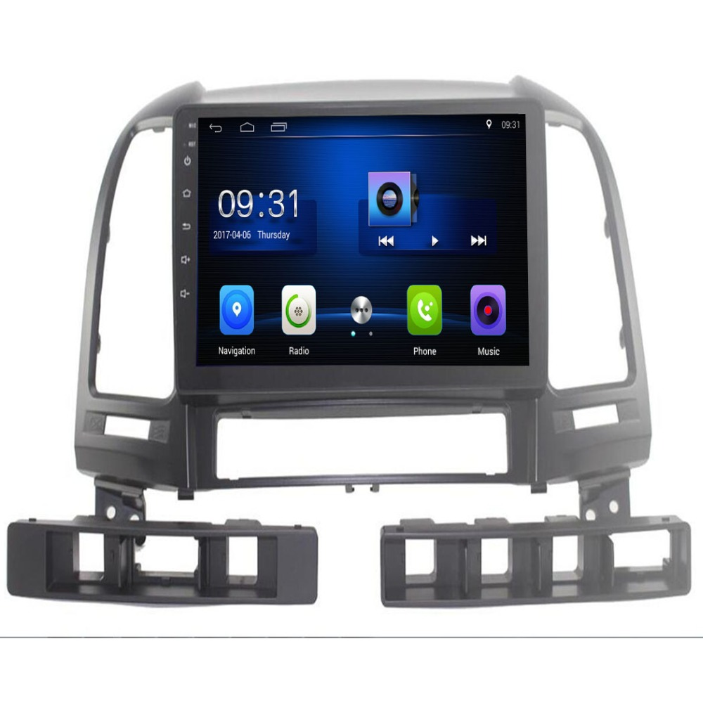 9 Quadcore Android 8.1 Car radio for Hyundai Santa Fe 2006 2012 car dvd player GPS navigation car multimedia 3G WIFI OBD DVR