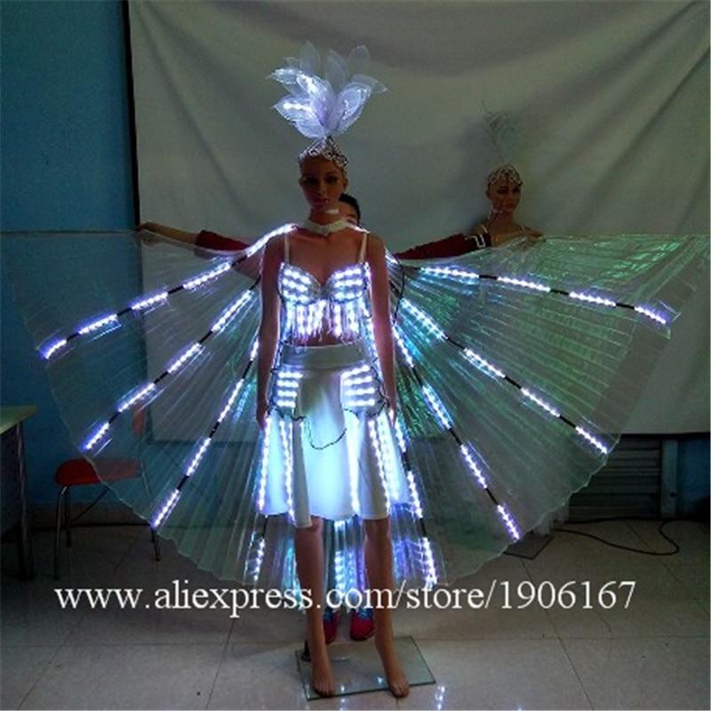 최신 Led 빛나는 파티 드레스 LED 조명 최대 무대 공연 성능 볼룸 의상